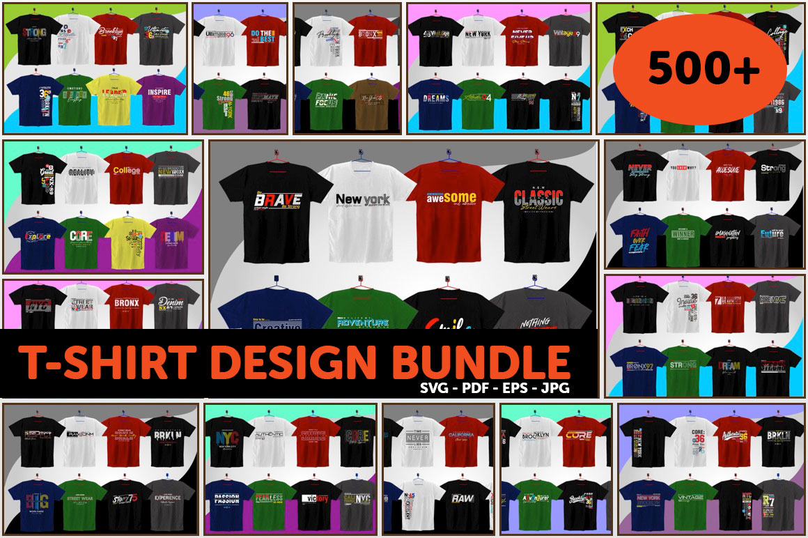 Get 500+ Amazing T-Shirt Designs with Extended License