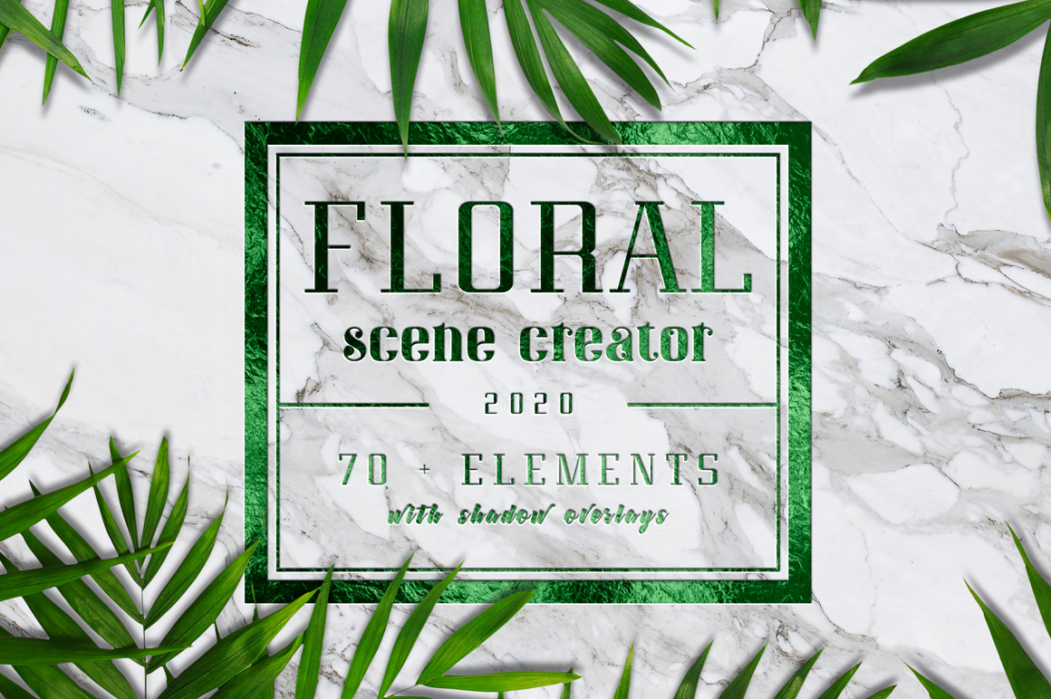 Floral Scene Creator - Get 70+ Editable Elements + Premade Scenes