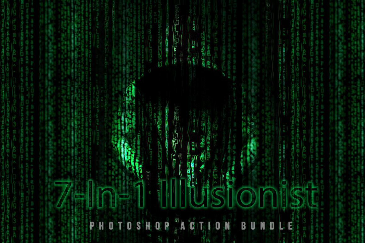 7-In-1 Illusionist Photoshop Action Bundle