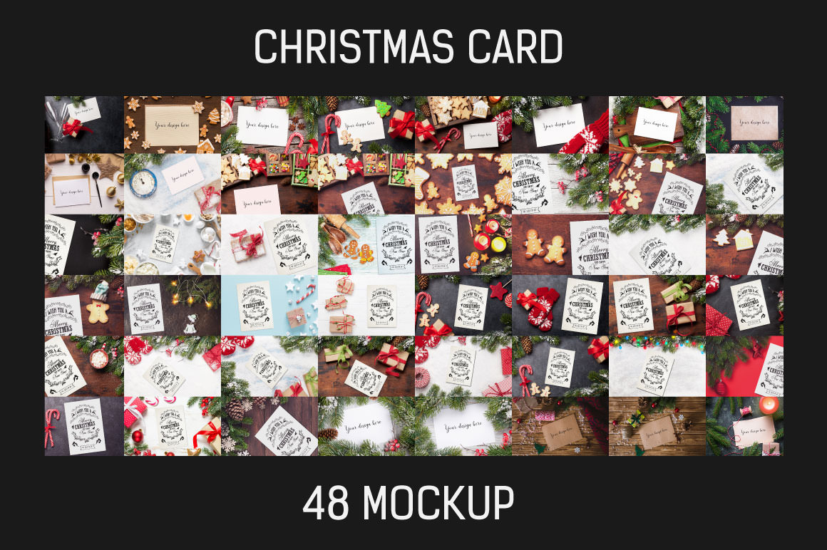 48 Christmas Card Mockups