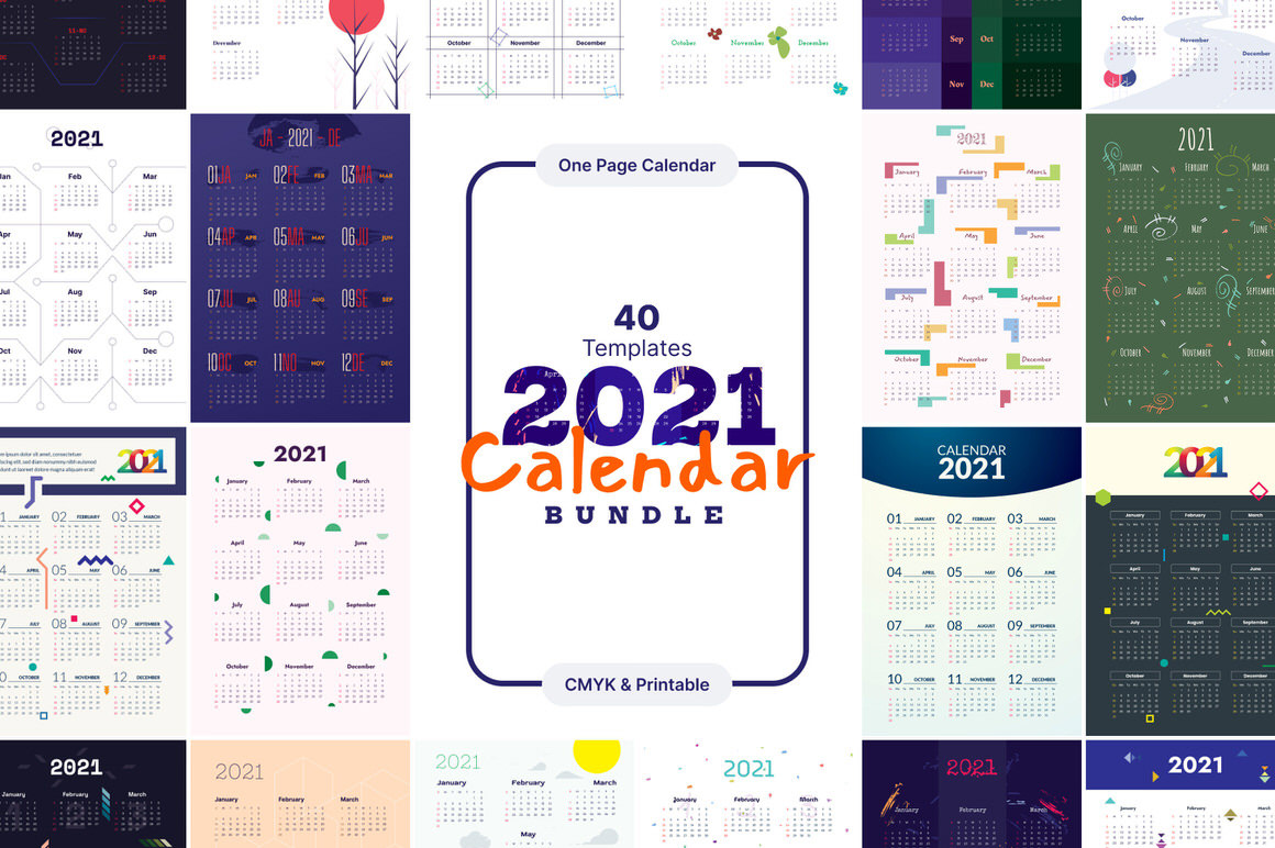 Download Ultimate 2021 Calendar Bundle - Calendar Templates for ...
