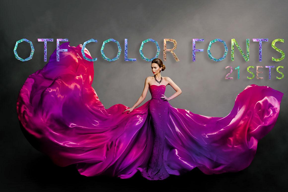 Get 21 OTF UNIQUE Color Fonts