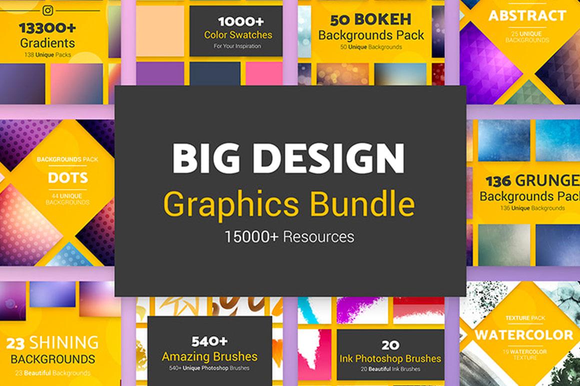 Big Design Graphics Bundle (15000+ Resources)
