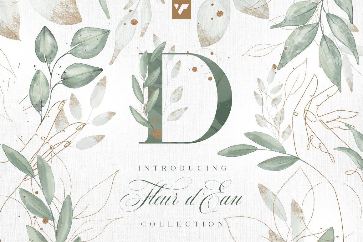 Fleur d'Eau Graphic Collection with Commercial License