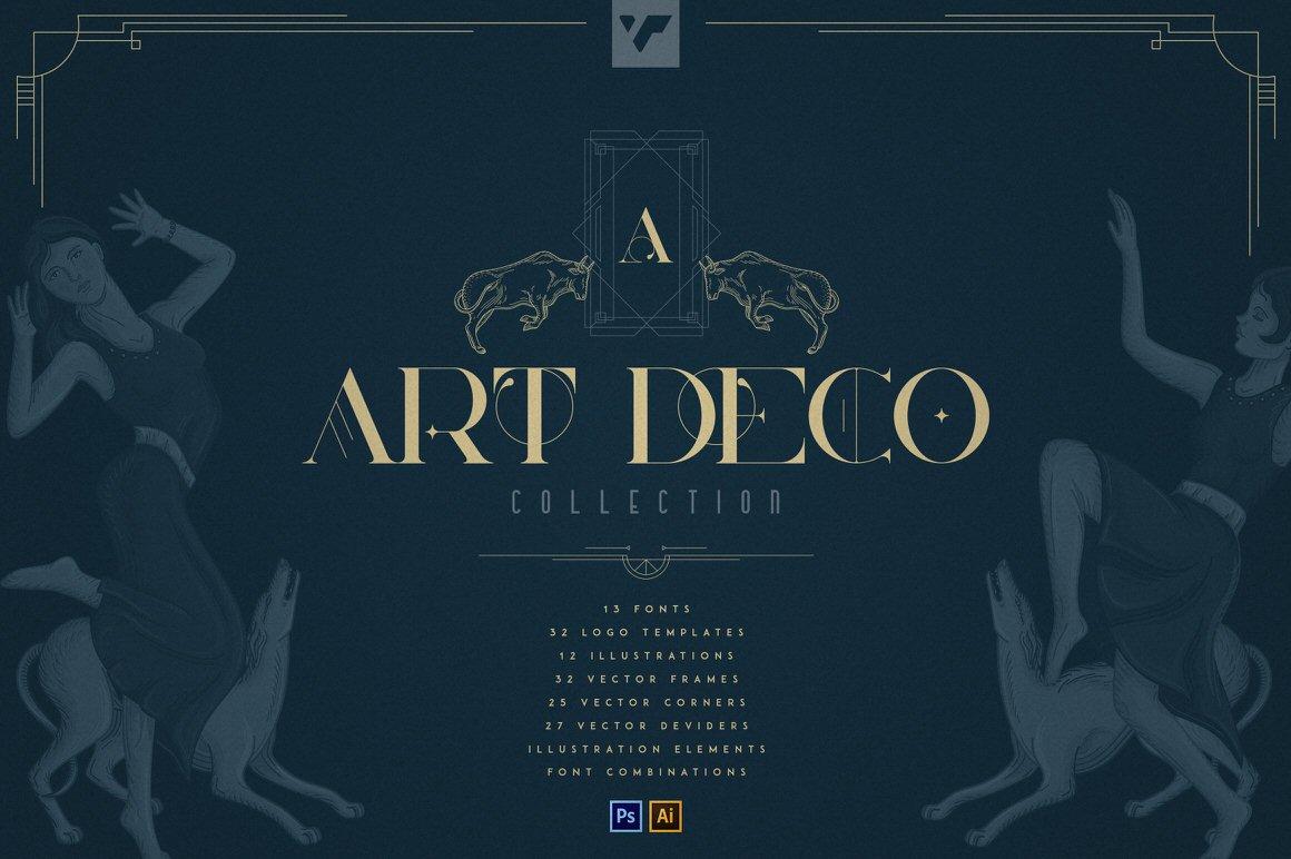 Art Deco Collection - Fonts, Vectors, Logos