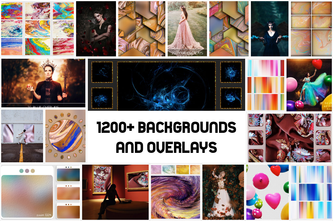 Download 1200+ backgrounds and overlays for only $11 - Extended license