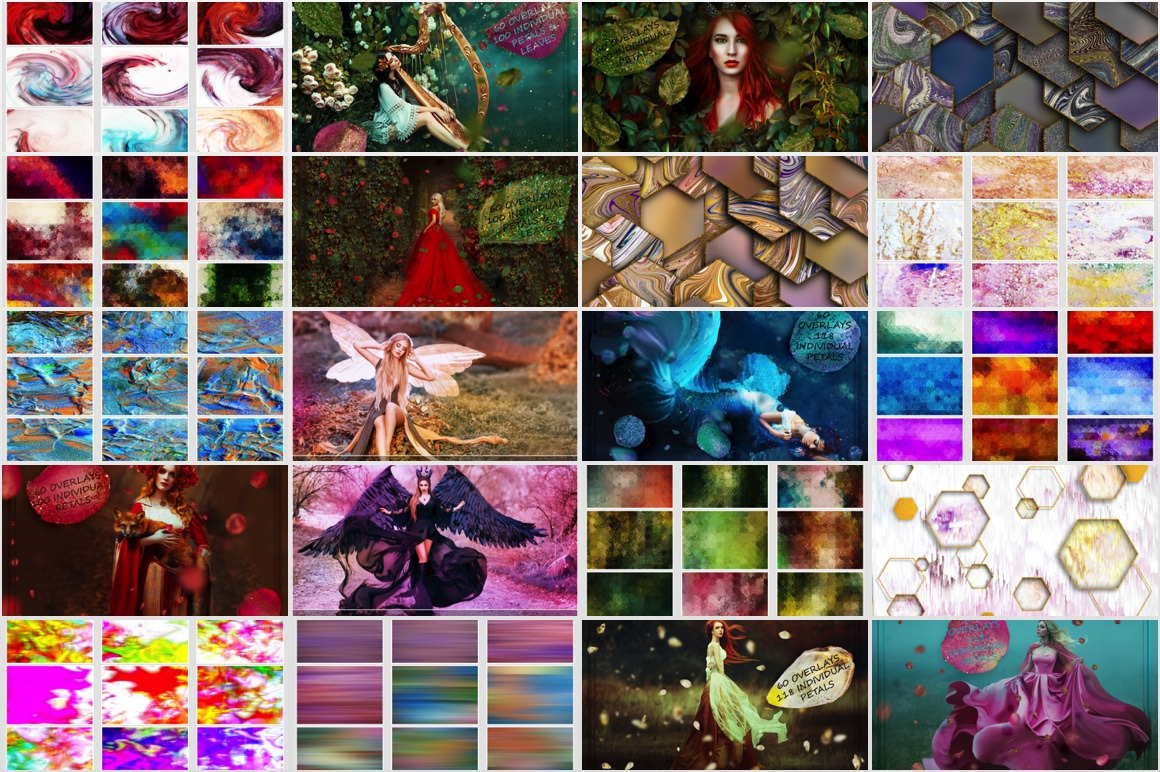 Download 1450 Overlays and Backgrounds in 4K with Extended License