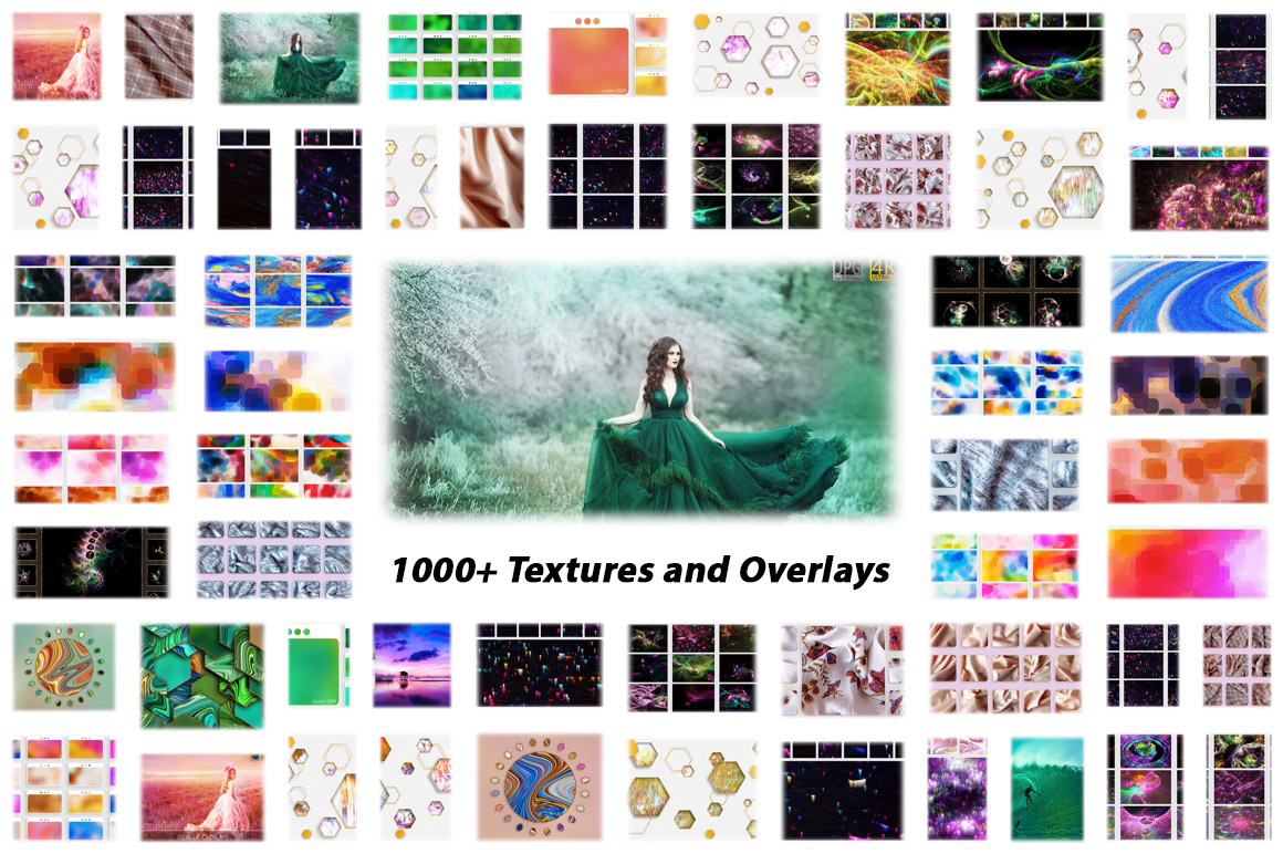 1000 Overlays and Backgrounds with Extended License