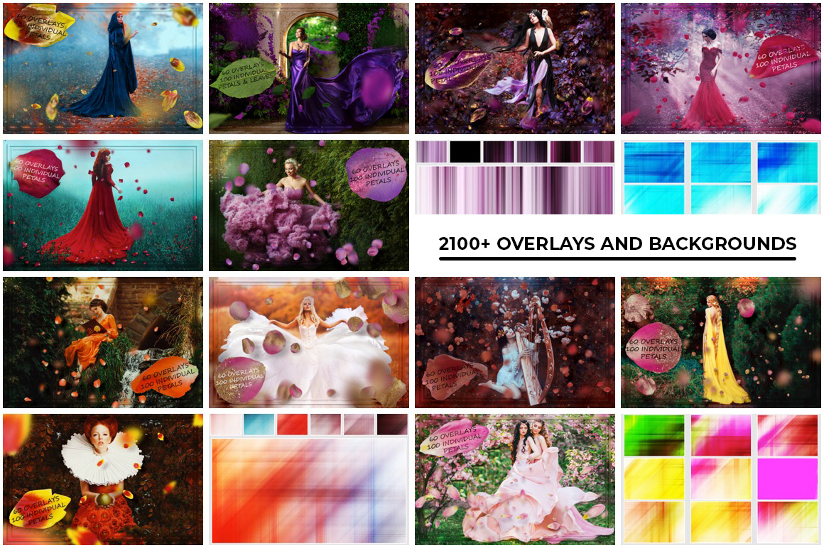 2100+ Useful Overlays and Backgrounds