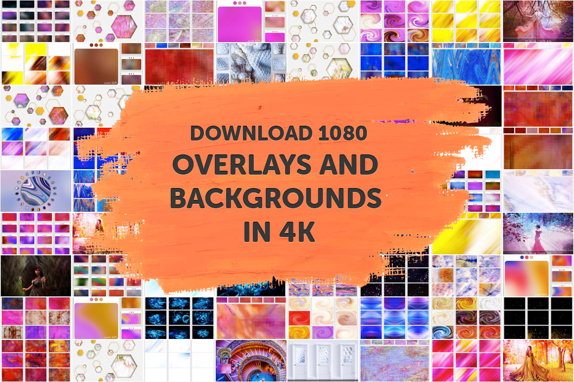 Download 1080 Overlays and Backgrounds in 4K