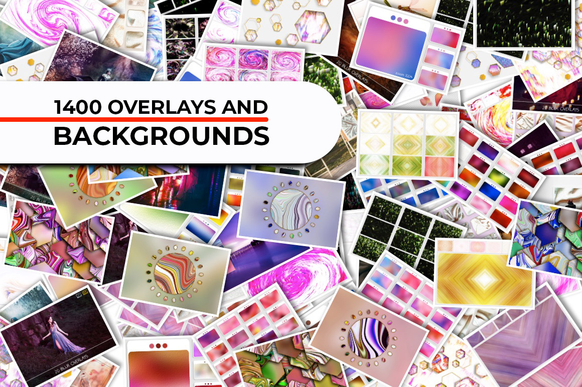 Download 1400 Backgrounds and Photo Overlays