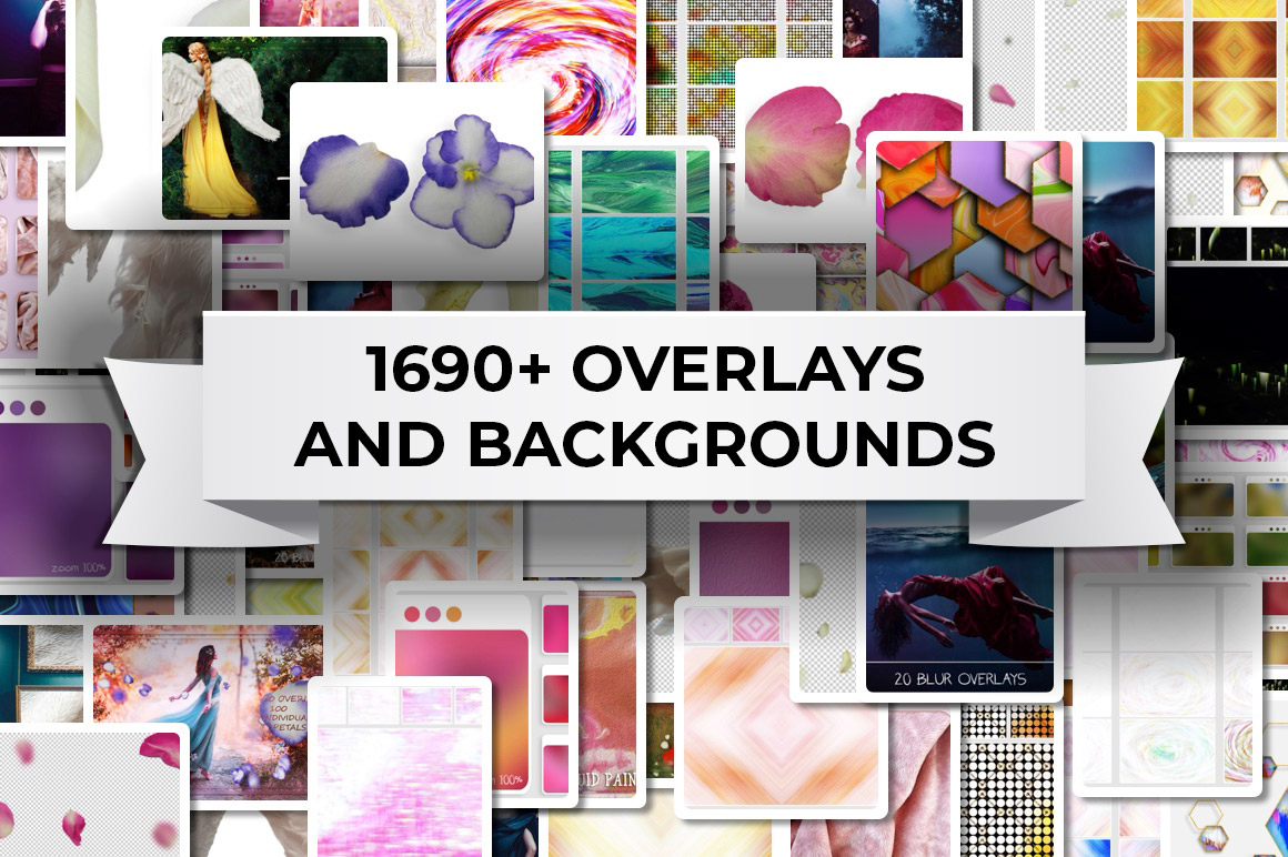 Download 1690+ overlays and backgrounds with extended license for only $13