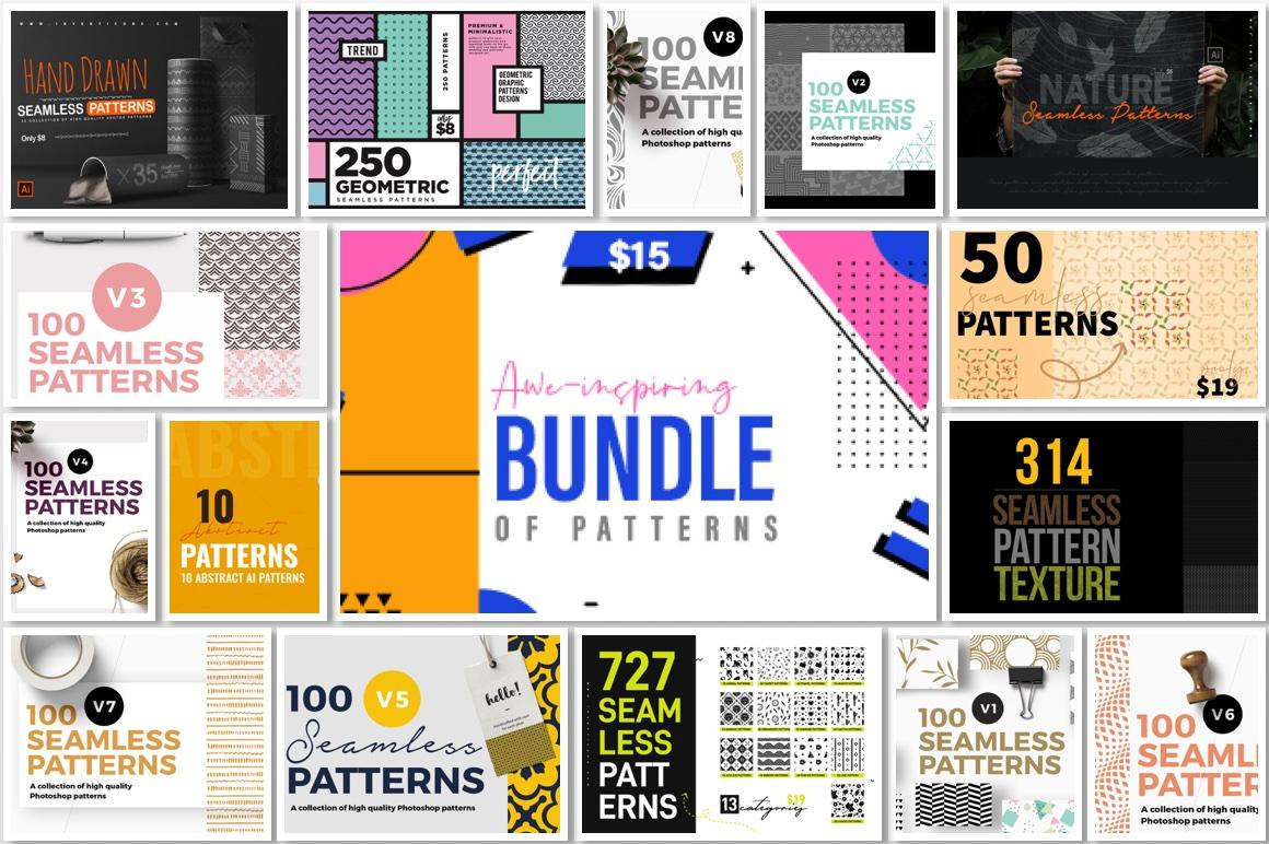 Awe-inspiring Bundle of Patterns - Seamless & Abstract