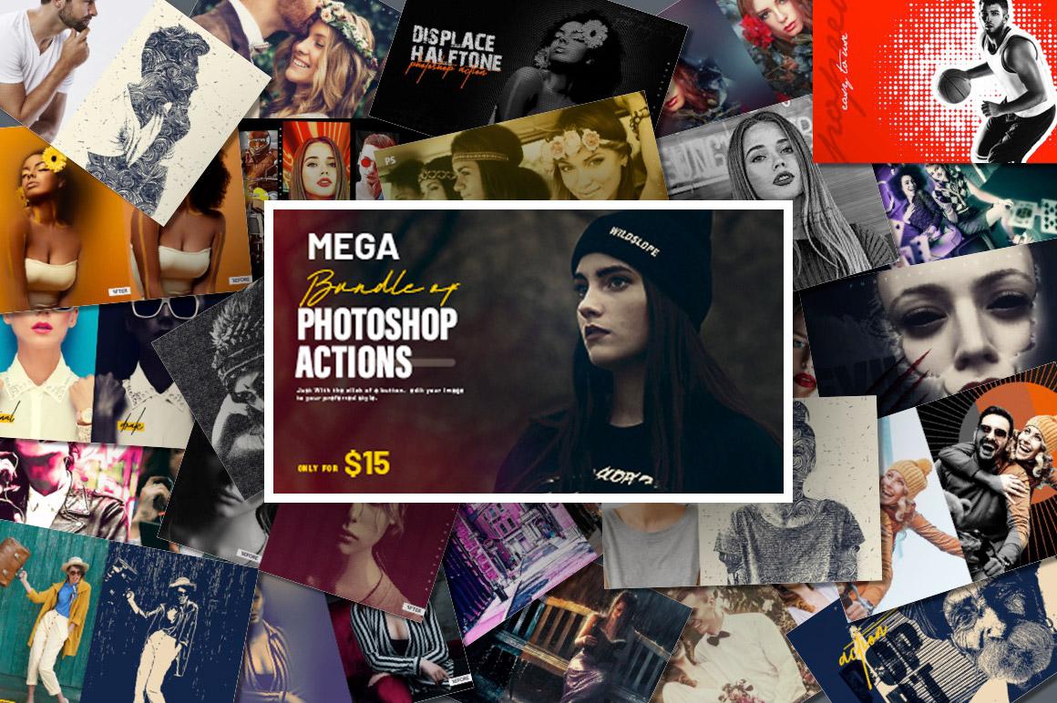 Mega Bundle of Photoshop Actions