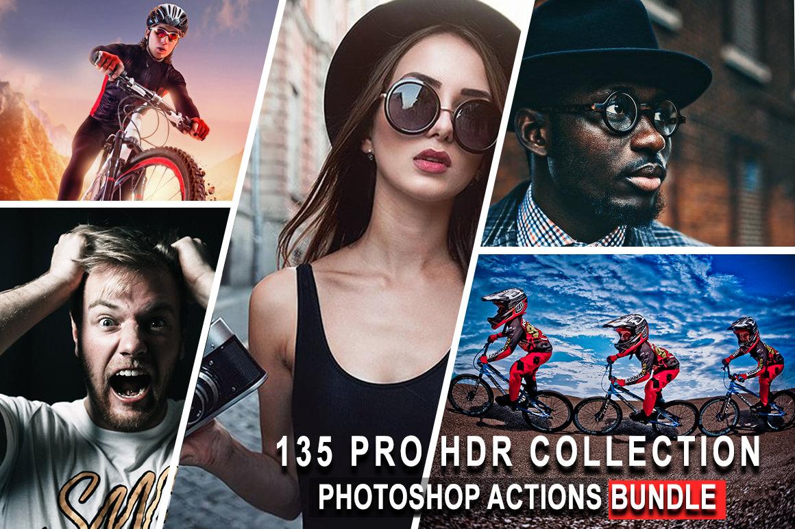 135 Pro HDR Collection Photoshop Actions Bundle