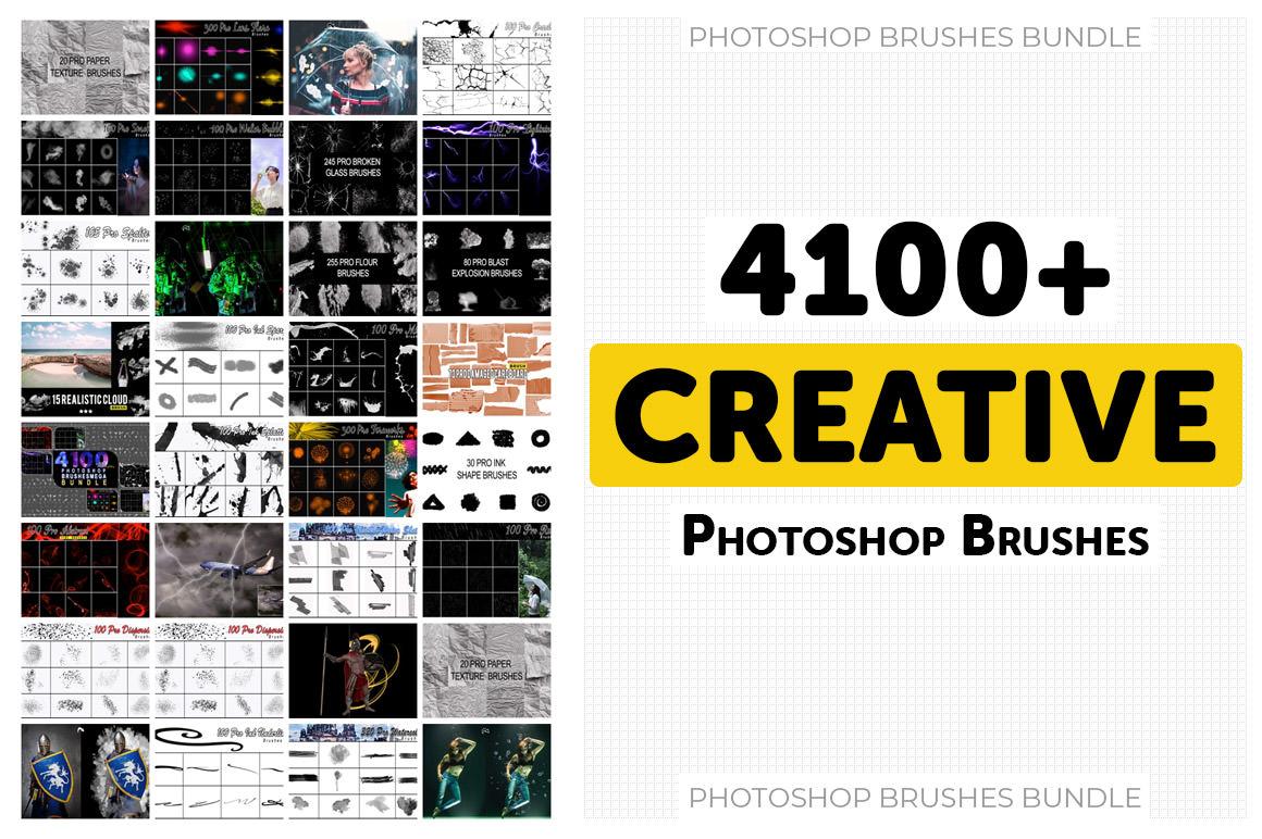 4100+ Photoshop Brushes Mega Bundle