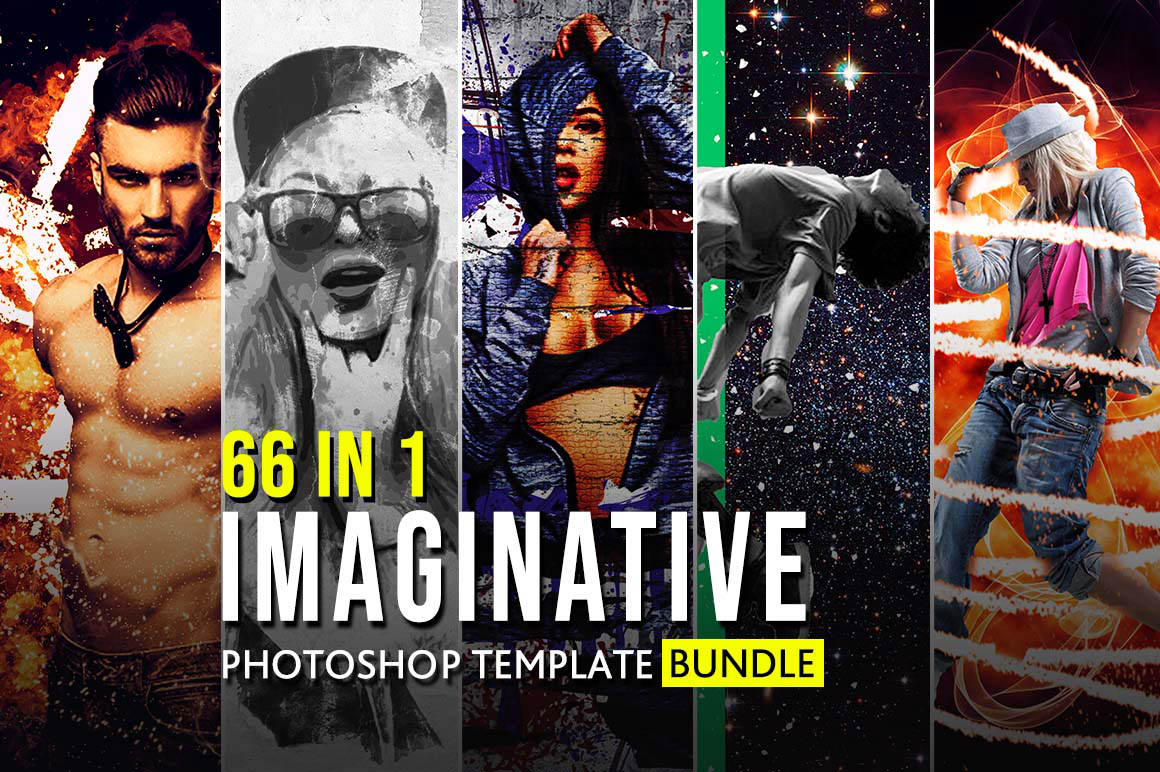 66+ Imaginative Photoshop Template Bundle - Amazing effects in just a few clicks