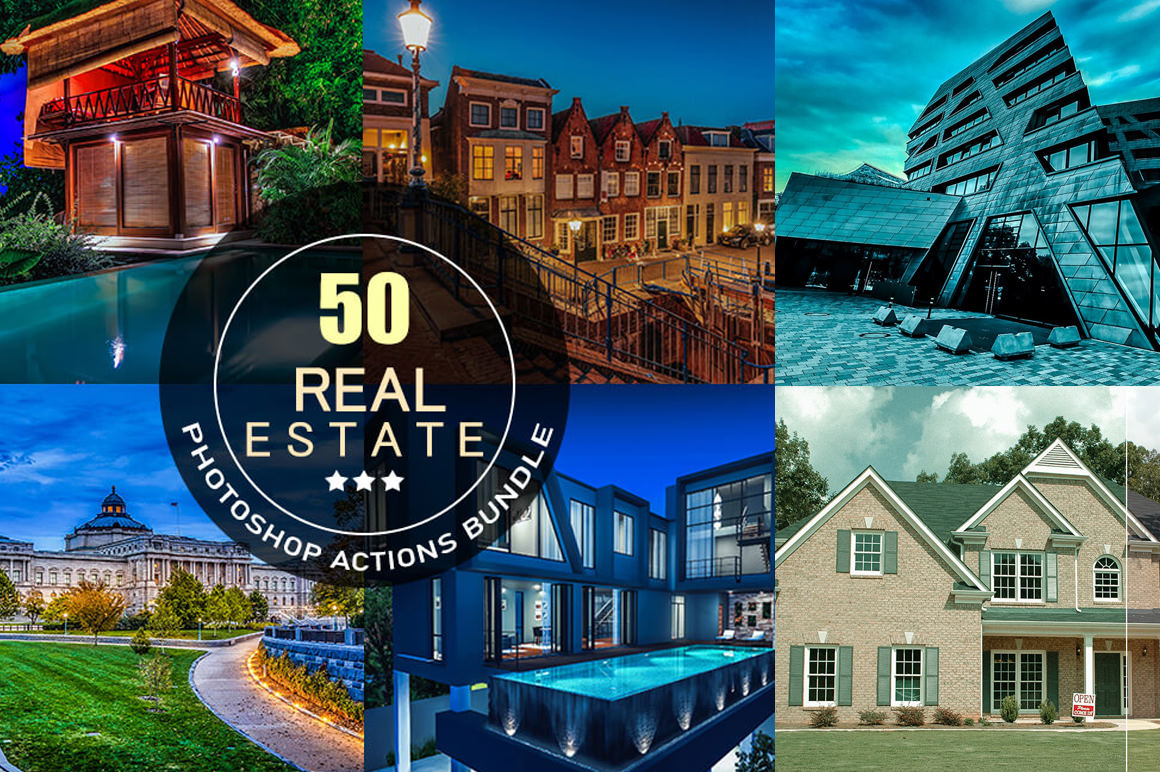 Download 50 Real Estate Photoshop Actions