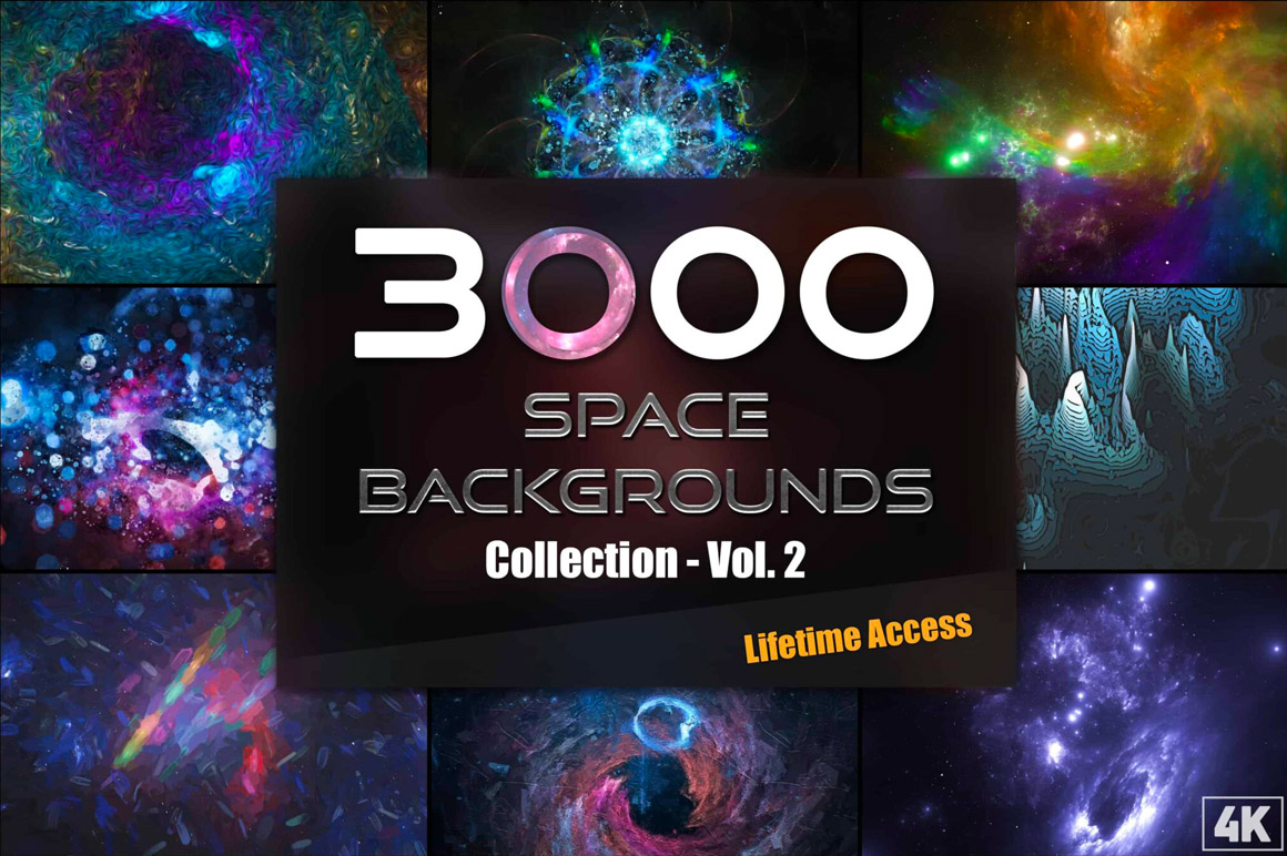 3000+ Space Backgrounds and Textures Collection – Vol.2