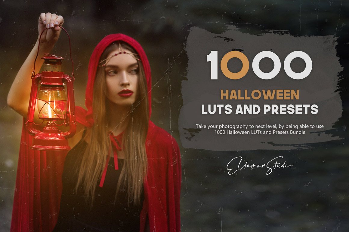 Create a professional and creative look with just few clicks with 1000 Halloween LUTs and Presets