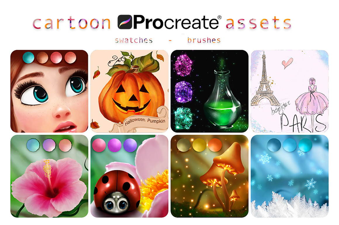 Download Amazing Cartoon Assets For Procreate