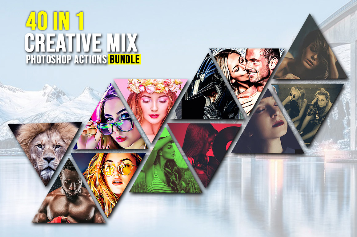 40 In 1 Creative Mix Photoshop Actions Bundle