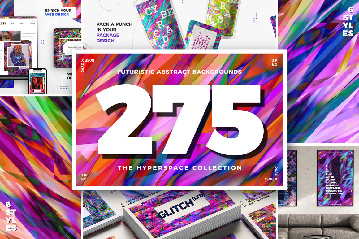 275 Futuristic Abstract Backgrounds