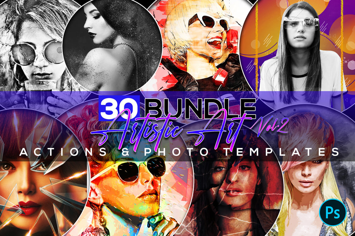 Amazing Art Actions and Photo Templates Bundle
