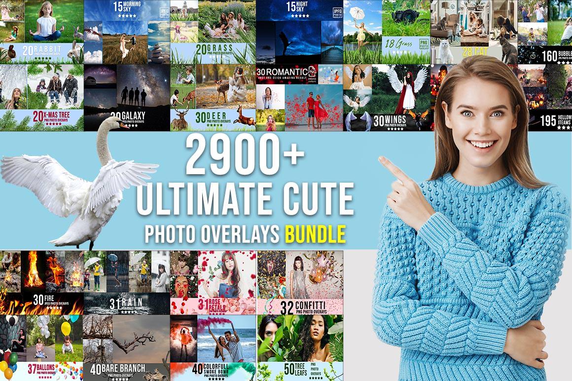 2900+ Ultimate Cute Photo Overlays Bundle