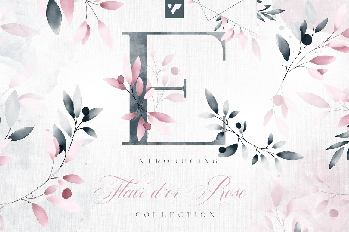 Fleur d'or Rose Graphic Collection