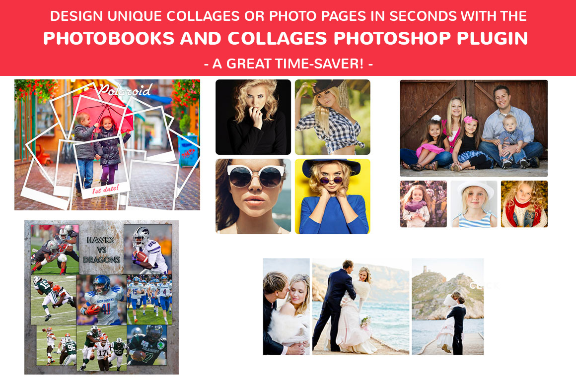 PhotoBooks and Collages Photoshop plugin - A great time-saver