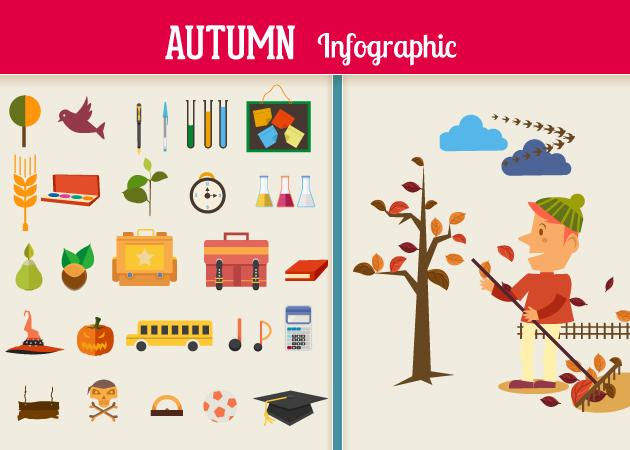 autumn-flat-vector-elements