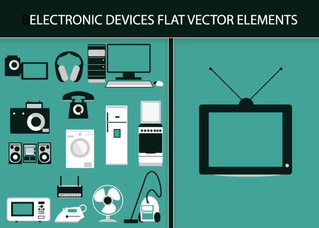 electronic-devices-flat-vector
