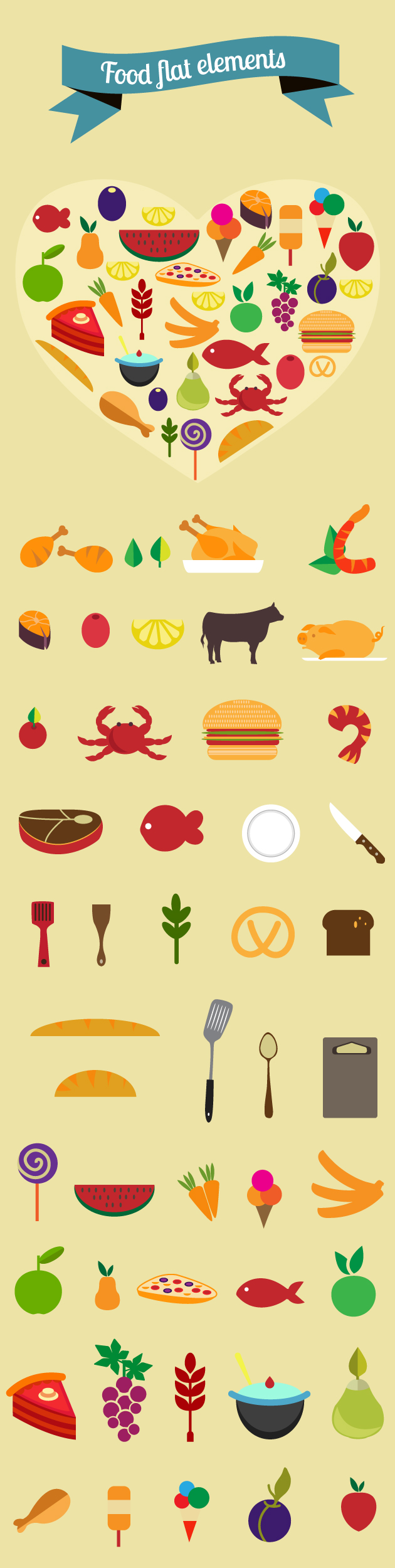 food flat vectors