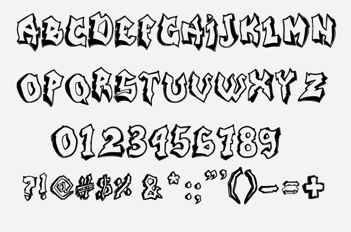 Graffiti Font 1 Worth 10