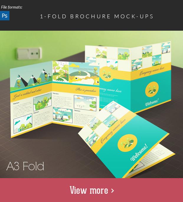 Fold Brochure Mock-Ups