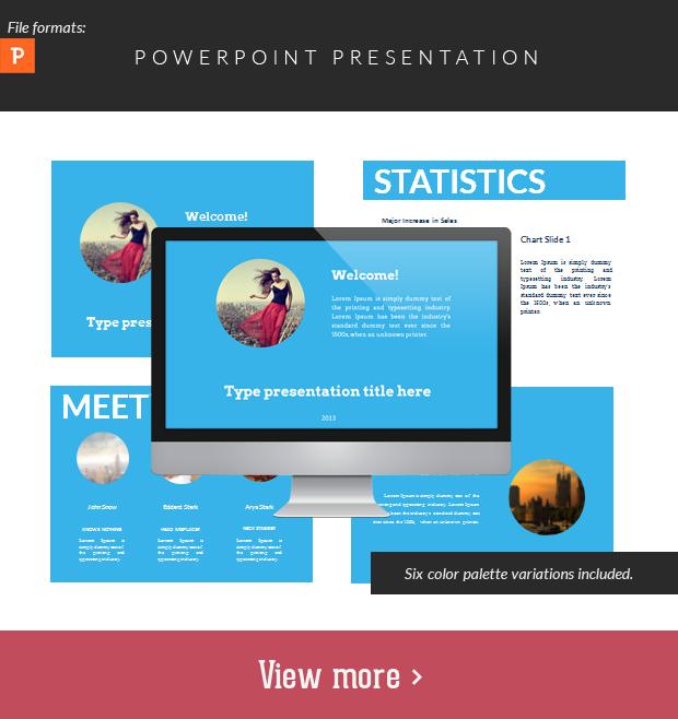 Flat Power Point Presentation