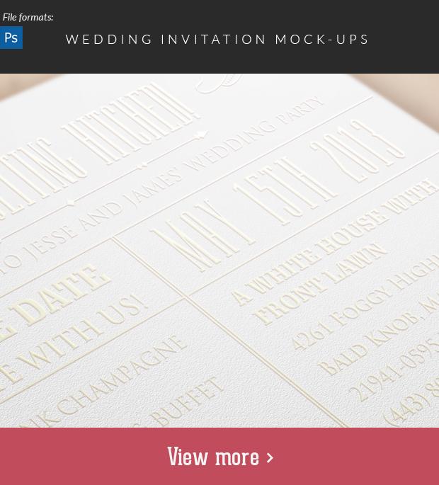 Wedding Invitation Mock-Ups