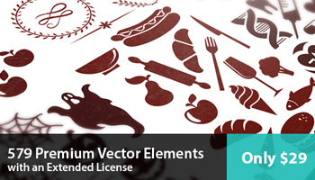 579 Premium Vector Elements with an Extended License