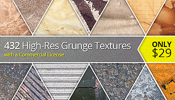 432 High-Res Grunge Textures with a Commercial License – Only $29