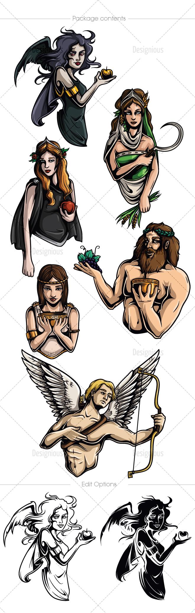 Mythical Creatures Amp Greek Mythology Vector Bundle Only 24