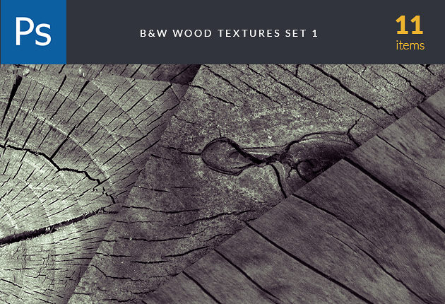 textures-BW-wood-set