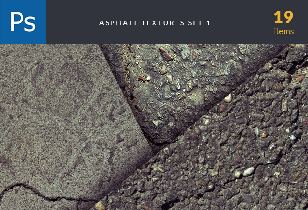 textures-asphalt-set