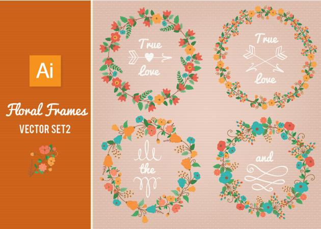 Vector-Floral-Frames
