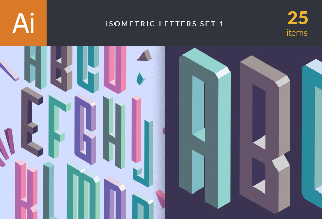 vector-isometric-alphabet