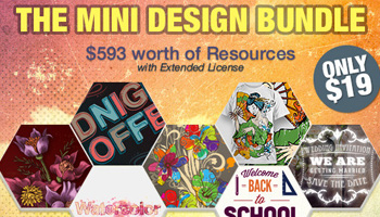 The Mini Design Bundle $593 worth of Resources with Extended License - Only $19
