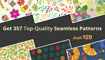 357 Premium Seamless Patterns with an Extended License for Only $29