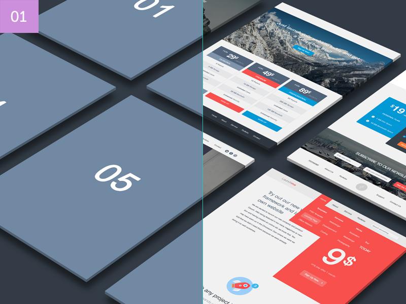 Perspective Website Mockup Bundle