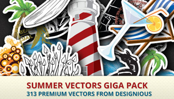 Summer Vectors Giga Pack 313 Premium Items - Only $20