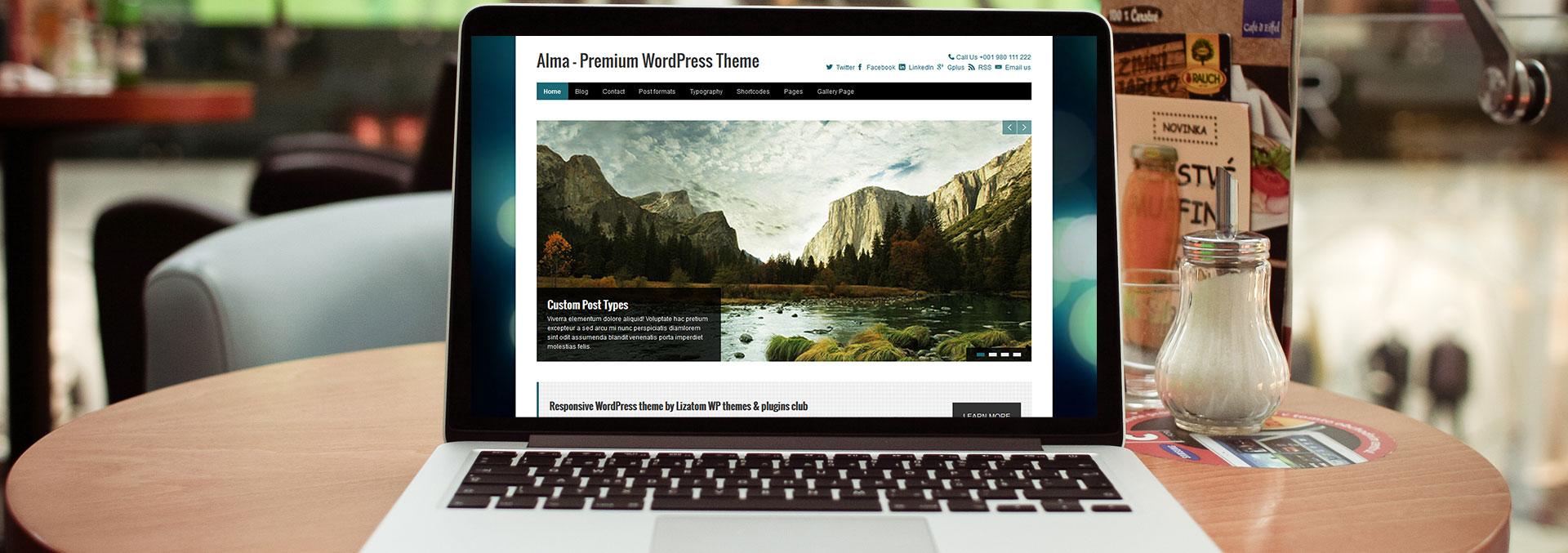 Alma wordpress theme